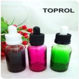 Милые зеленые стеклянные бутылки 30ml с крышкой ребенка Tamperproof и тонкой капельницей