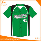 O basebol da impressão do Sublimation de Healong abotoa a camisa
