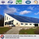 Singola costruzione prefabbricata della struttura d'acciaio del pendio per il workshop
