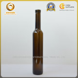 Bottiglia di vetro vuota del vino del ghiaccio della parte superiore 375ml del sughero (029)