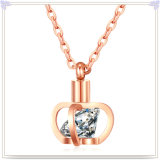水晶宝石類の方法吊り下げ式のステンレス鋼のネックレス(NK1095)