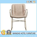 European Style Hotel Dining Chaise en métal avec cuir optionnel