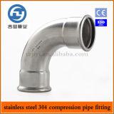Presse de pipe d'acier inoxydable adaptant le coude égal de 90 degrés