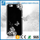 Caixa dura luxuosa do telefone de Bling do Rhinestone da caixa do PC para o iPhone 7
