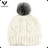 Шлем шарфа Knit кабеля пряжи 2PC Fasihon теплый установленный светлый цветастый тонкий