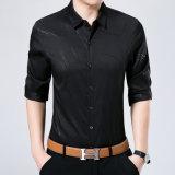 열 인쇄 프린지 패턴을%s 가진 긴 소매 남자의 t-셔츠