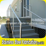 Sistema de trilhos Indoor Staricase Railroad Stair Stainless Steel