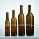 Bottiglia della Borgogna, bottiglia di vino antica di vetro verde 750ml nella figura della Borgogna (NA-013)