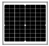 панель солнечных батарей 18V 15W Mono для системы 12V (2017)