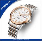 Reloj automático de los pares del acero inoxidable del vidrio cristalino 316L del OEM y del ODM