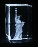 3D Laser cristalino grabado Glass Cube Block recuerdos
