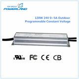 120W 24V 0 ~ 5A programable constante del voltaje de fuente de alimentación LED