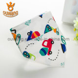 Vente en gros Custom Absorbent Printed Soft Cotton Infant Triangle Drool Bandana