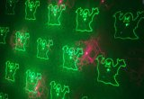 Laser móvil del jardín del rojo + del verde del modelo de Víspera de Todos los Santos doce