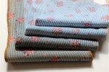 Toile en coton à rayures avec impression pigmentée