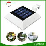 4 lumière solaire extérieure de la lampe PIR de DEL de mouvement de détecteur de toit de creux de la jante de lampe légère solaire solaire carrée de frontière de sécurité