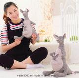 Brinquedo do canguru do luxuoso feito da tela da manta