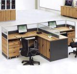 木MDFのオフィスの区分クラスタ事務員のスタッフワークステーション(HX-NCD285)