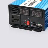 12V 220V 50Hz de Zuivere Omschakelaar Invertor van de Golf van de Sinus 2000W met Digitale Vertoning