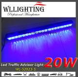 Luz azul da seta para caminhões