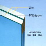 Grande vetro laminato pianamente temperato di formato per la parete divisoria della costruzione