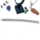 Pulsera excelente cristalina del acero inoxidable de la calidad de la flor de la manera para las mujeres