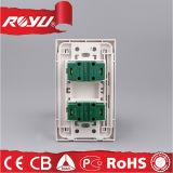 plot électrique de commutateur de mur universel de la fiche 2-Pin pour la maison