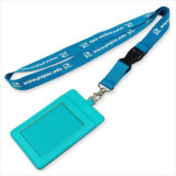 Convenção de couro PU Nome / ID Card Badge Reel Holder Custom Lanyard para ID Badge (NLC010)