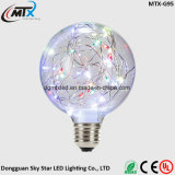 Retro Vintage Globe Starry Sky Light 2W Lâmpada LED Edison Lâmpada colorida E27 Screw s46