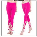 Athletisches Großhandelskleid-komprimierende Gamaschen-Frauen-Mädchen 3/4 Yoga-Hosen