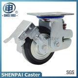 "5 "" Individual Heavy Duty Springs PU Rigid Shockproof Caster Wheel"