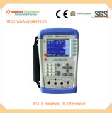 10micro 옴 200kohm 측정 범위 (AT518L)를 가진 소형 DC 저항 검사자