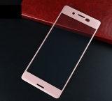 Butoir en soie complètement couvert d'écran en verre Tempered d'impression des accessoires 3D de téléphone mobile pour Sony XP