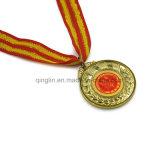 安全なリボンが付いている学校の完投のチャンピオンの金属