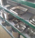 Conteneur respectueux de l'environnement de papier d'aluminium pour le secteur rond