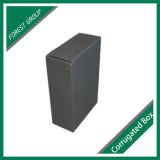 Серебряная штемпелюя коробка гофрированной бумага логоса черная