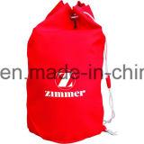 Мешок Backpack Drawstring хлопка, Zippered мешок шнура