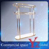 Estante de la promoción del estante de la exposición del estante de la percha del estante de visualización del soporte de visualización del acero inoxidable del estante de visualización (YZ161703)