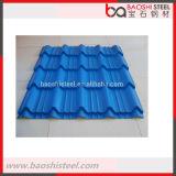 hoja acanalada revestida del material para techos del color de 0.18~3.00m m
