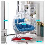 現代余暇の家具の金属の柳細工のハングの椅子の円形の藤(J827)