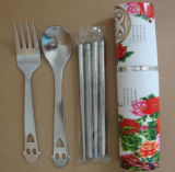 Cuisinière en acier inoxydable en acier inoxydable Set de coutellerie en paquet en aluminium