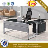 Bureau en verre confortable en métal de meubles de bureau premier (NS-GD070)
