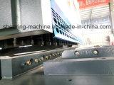Машина гидровлической гильотины CNC вырезывания плиты стального листа металла режа