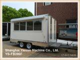 Ys-Fb390f 3.9mの白の食糧トラックの移動式食糧トレーラーのアイスクリームヴァン