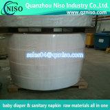 Materia prima del papel de tejido del fabricante para la servilleta sanitaria del panal del pañal del bebé