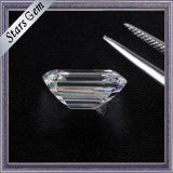 1.5 Carat 7.5X5.5mm Wonderful Emerald Cut F Couleur Blanc Moissanite Stones