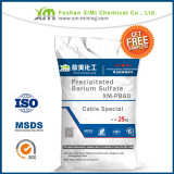 Sulfato de bario precipitado Baso4 elevado de la pureza 98.7% para el Special del cable