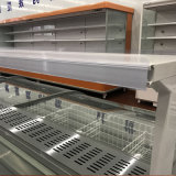 700Lフリーザーのショーケースのスーパーマーケットのスライドガラスドアの島のフリーザー