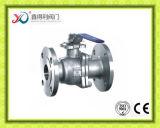 O aço inoxidável de JIS 10k 2PC flangeou válvula de esfera da flutuação
