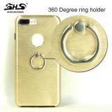 Shs escovou caixa do telefone de pilha do sentimento da mão do alumínio TPU da listra a boa para a nota 5 de Samsung